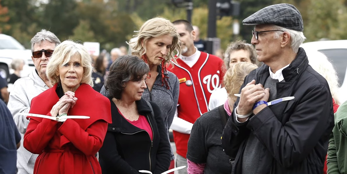 Jane Fonda and Ted Danson arrested in climate change protest