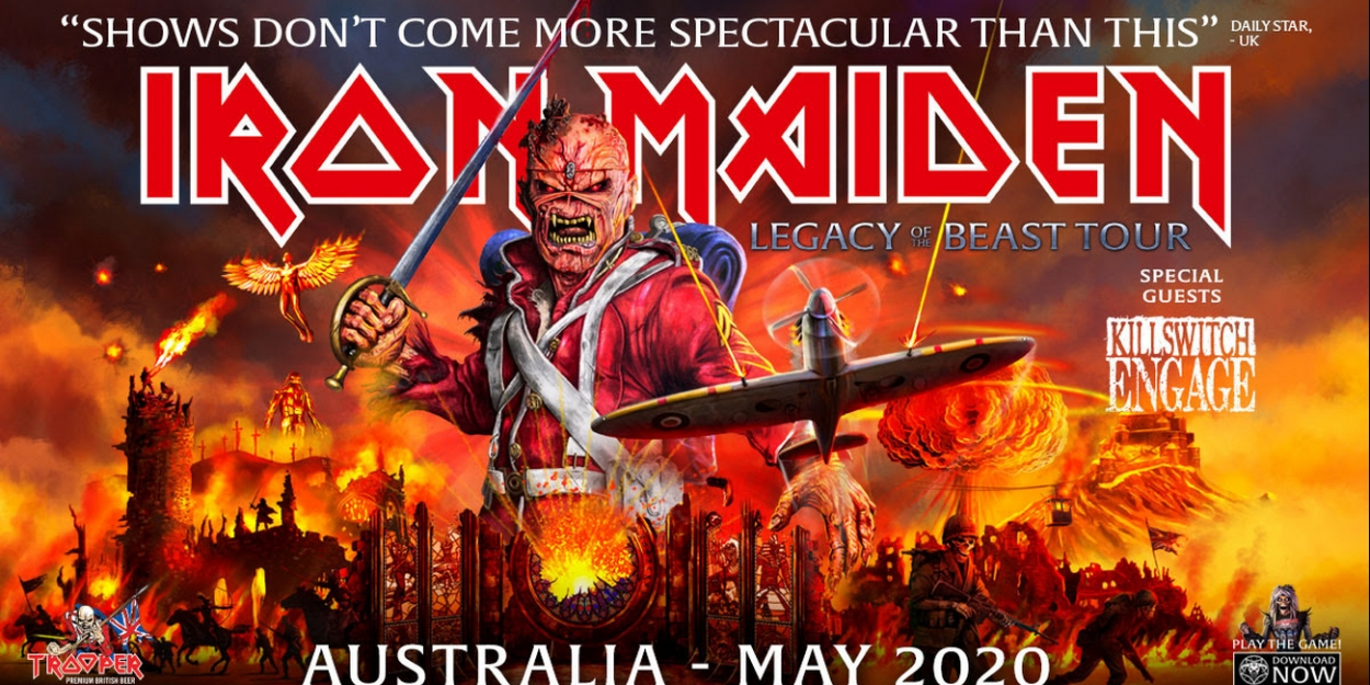 Iron Maiden to bring hardcore new tour to Australia in May