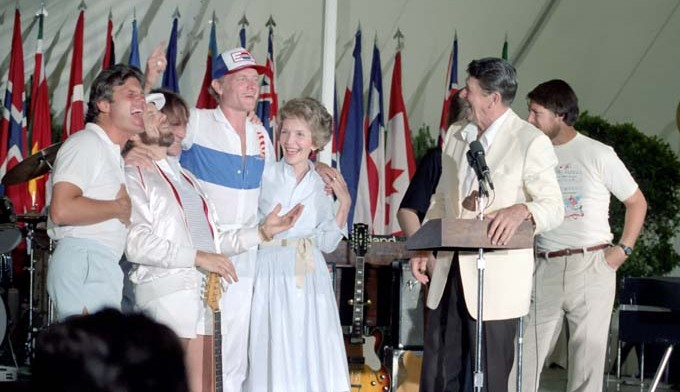 The Beach Boys with the Reagans