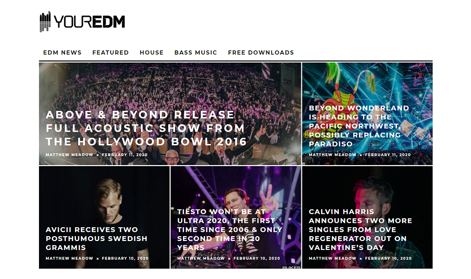 6 of the best music related sites and blogs your edm