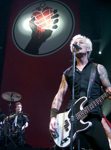 Green Day Mike Dirnt and Tre Cool