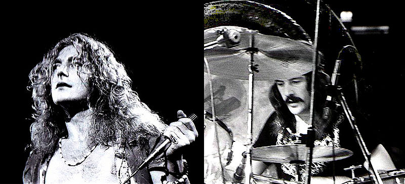 Led Zeppelin Robert Plant and John Bonham