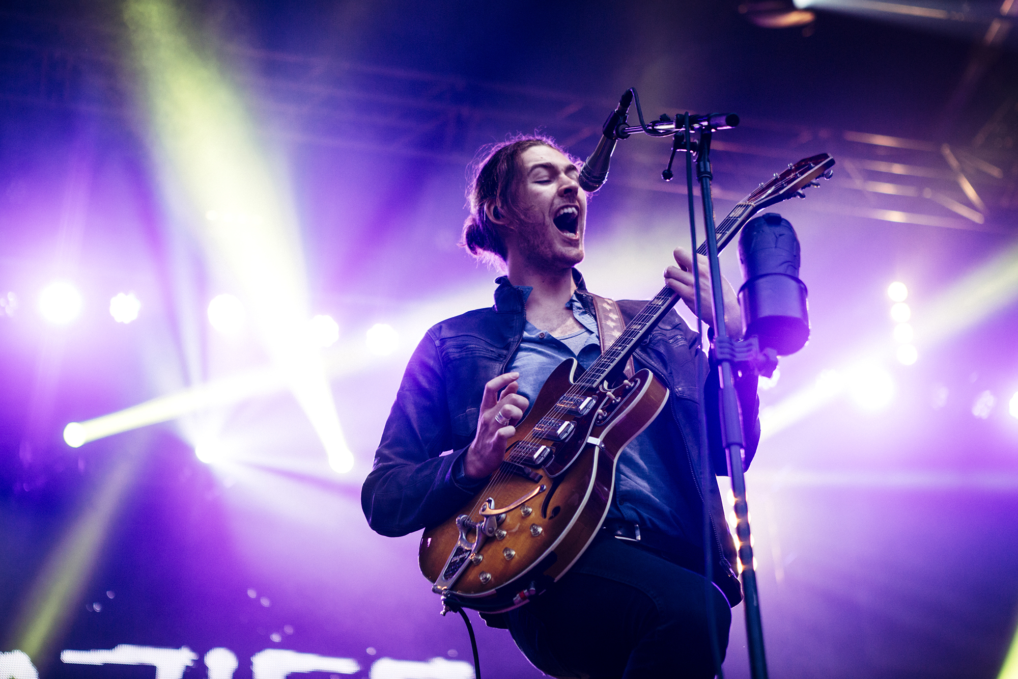Hozier plays at the Bumbershoot Music