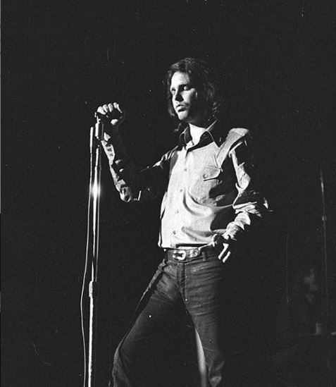 Jim Morrison while performing