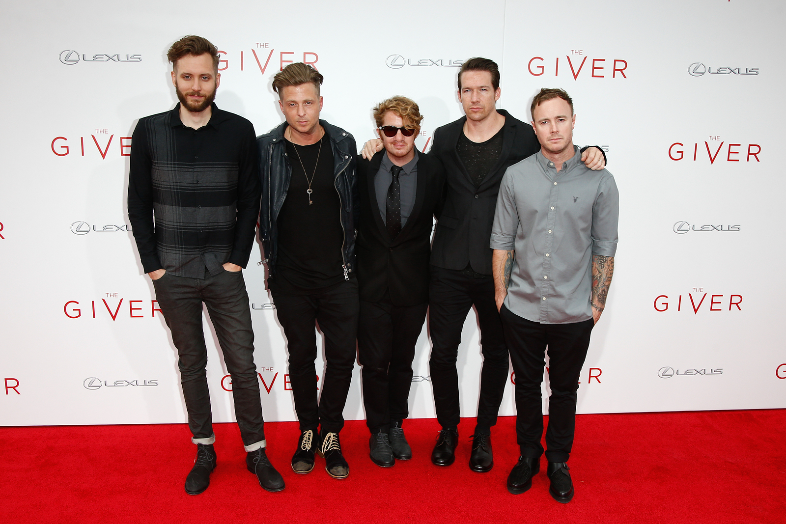"OneRepublic at the ""The Giver"" premiere"