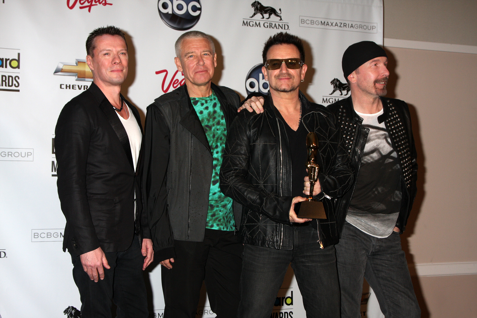 U2 members at the 2011 Billboard Music Awards